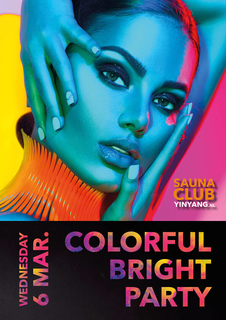 Colorful bright party