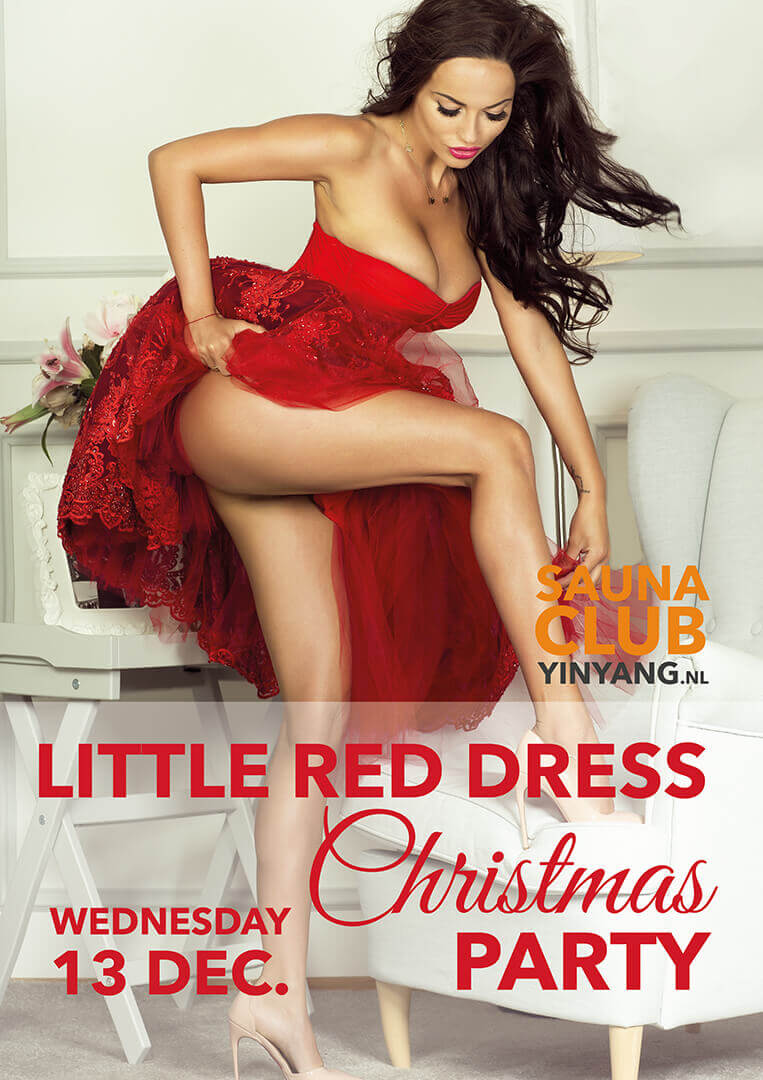 Little red dress christmas party